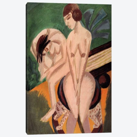 Two Acts in the Space Canvas Print #15076} by Ernst Ludwig Kirchner Canvas Art