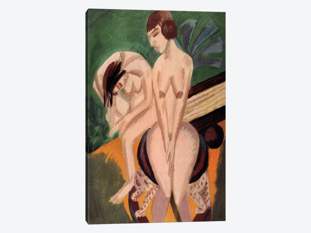 Two Acts in the Space by Ernst Ludwig Kirchner 1-piece Canvas Art Print