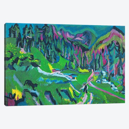 Landscape Sertigtal Canvas Print #15079} by Ernst Ludwig Kirchner Art Print