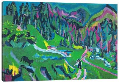 Landscape Sertigtal Canvas Art Print