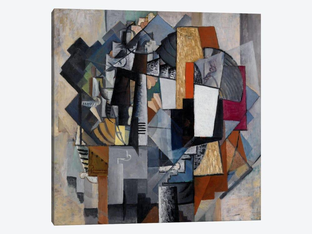 Bureau and Room by Kazimir Severinovich Malevich 1-piece Canvas Print