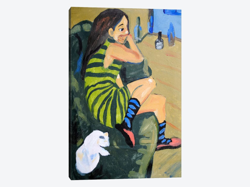 Female Artist by Ernst Ludwig Kirchner 1-piece Canvas Wall Art