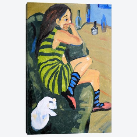 Female Artist Canvas Print #15084} by Ernst Ludwig Kirchner Canvas Print