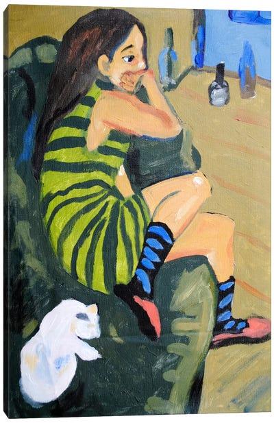 Female Artist Canvas Art Print