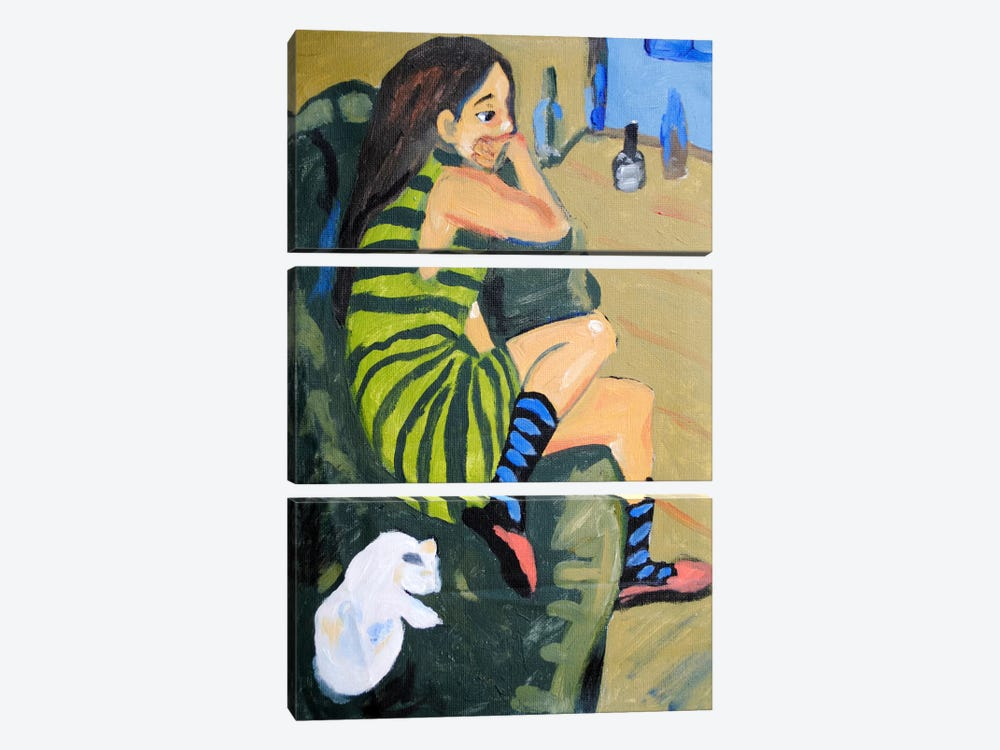 Female Artist by Ernst Ludwig Kirchner 3-piece Canvas Artwork