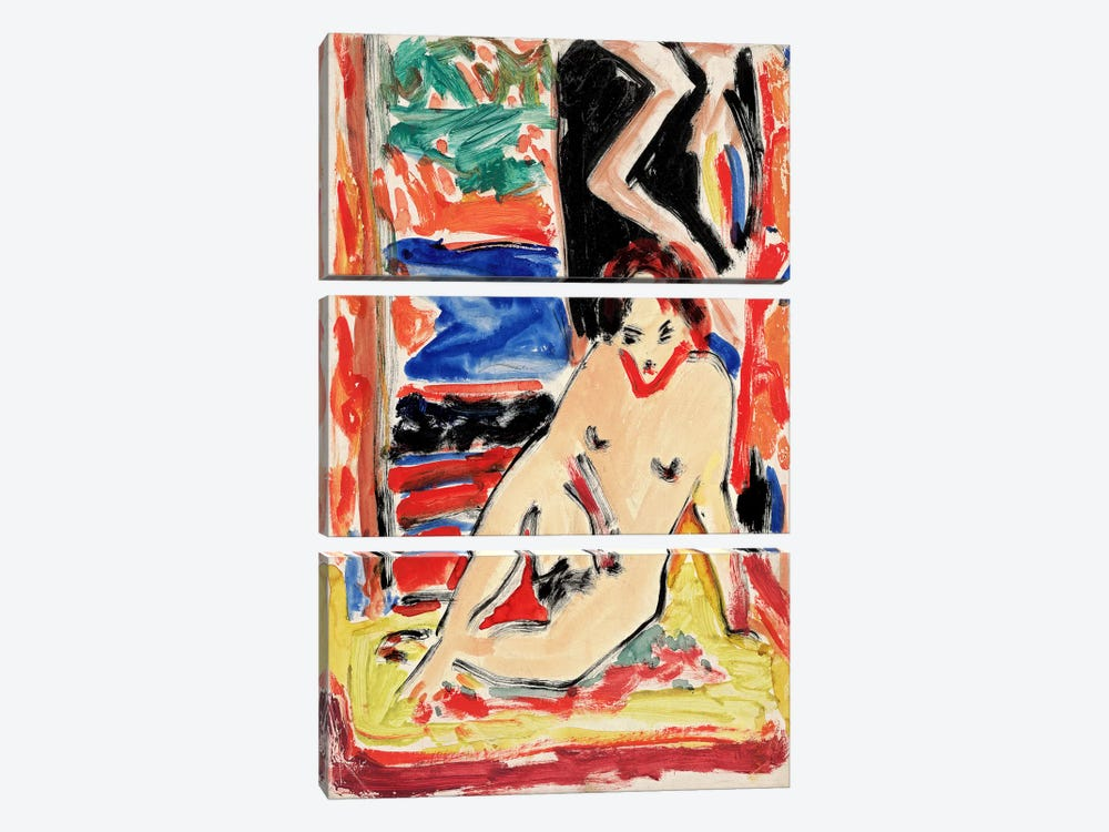 Kirchnernude Girl by Ernst Ludwig Kirchner 3-piece Canvas Print