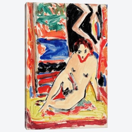 Kirchnernude Girl Canvas Print #15085} by Ernst Ludwig Kirchner Art Print