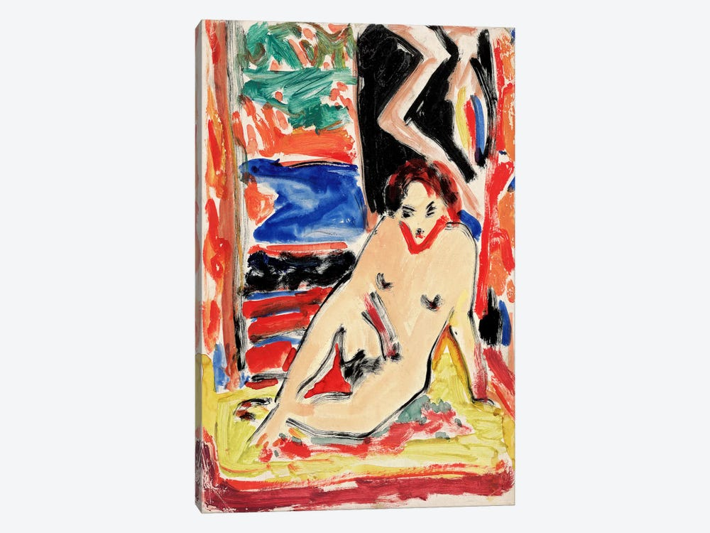 Kirchnernude Girl by Ernst Ludwig Kirchner 1-piece Canvas Print