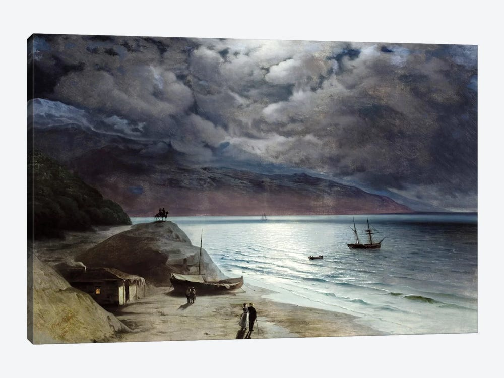Night at Gurzof by Ivan Aivazovsky 1-piece Canvas Print