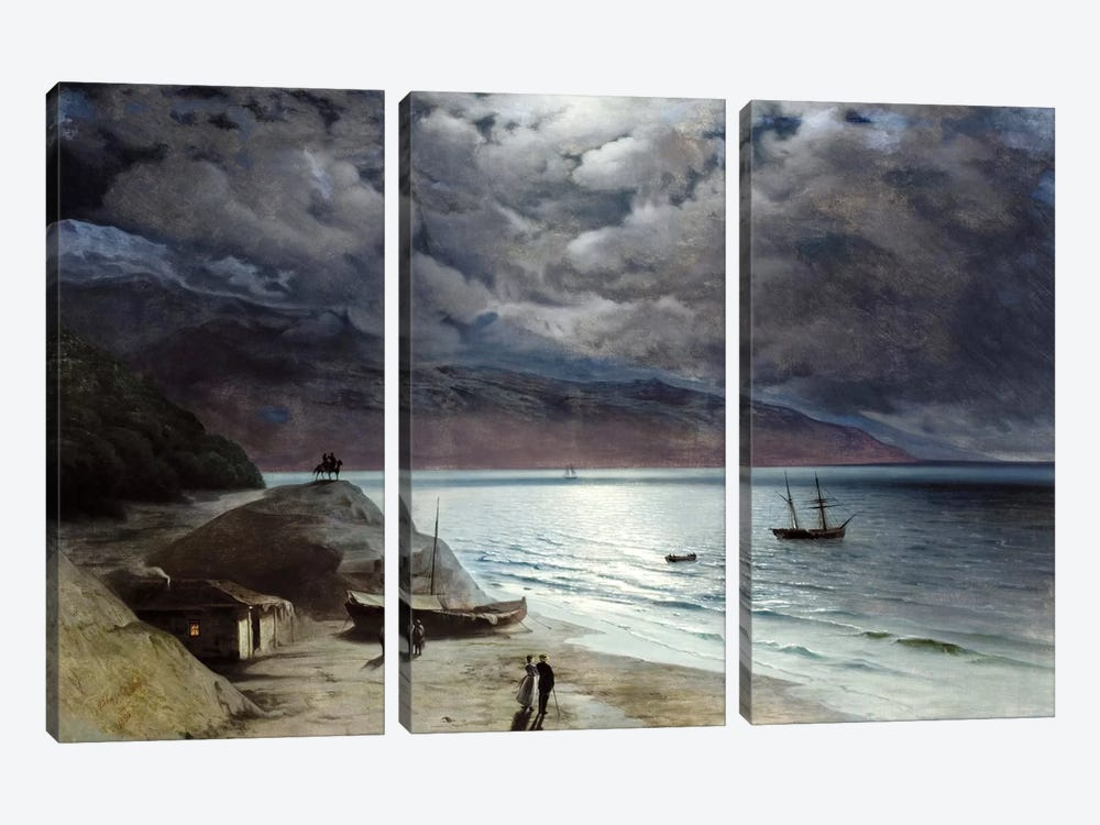 Night at Gurzof by Ivan Aivazovsky 3-piece Canvas Print