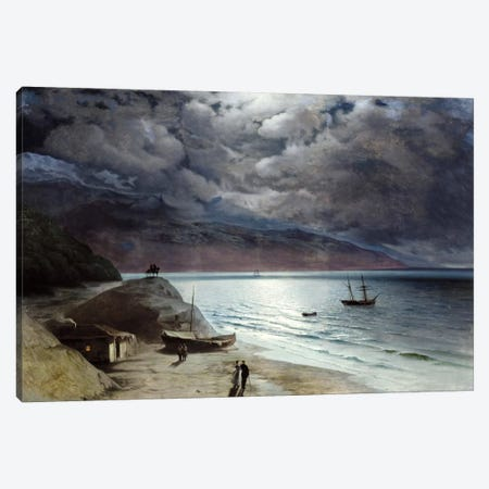 Night at Gurzof Canvas Print #15087} by Ivan Aivazovsky Canvas Art Print