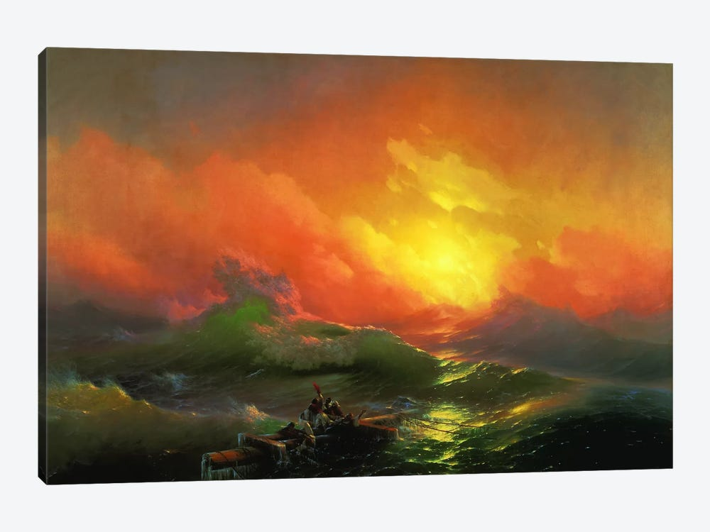 The Ninth Wave by Ivan Aivazovsky 1-piece Canvas Print