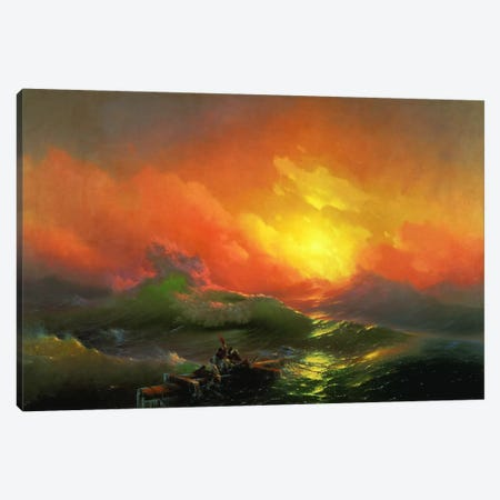 The Ninth Wave Canvas Print #15089} by Ivan Aivazovsky Canvas Artwork
