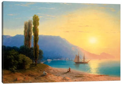 Sunset over Yalta Canvas Art Print