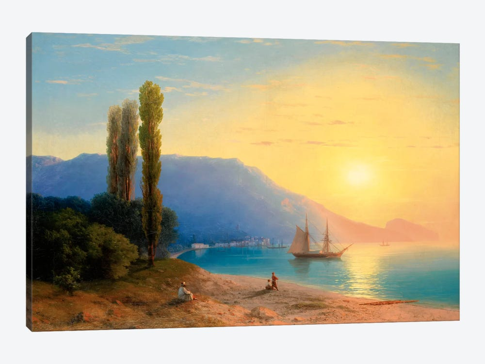 Sunset over Yalta by Ivan Aivazovsky 1-piece Canvas Artwork