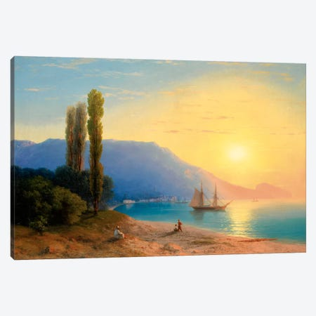 Sunset over Yalta Canvas Print #15091} by Ivan Aivazovsky Art Print