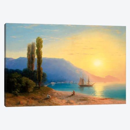 Sunset over Yalta Canvas Print #15091} by Ivan Aivazovsky Art Print