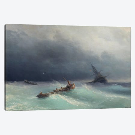 Storm at Sea Canvas Print #15092} by Ivan Aivazovsky Art Print