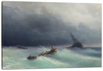 Storm at Sea Canvas Art Print
