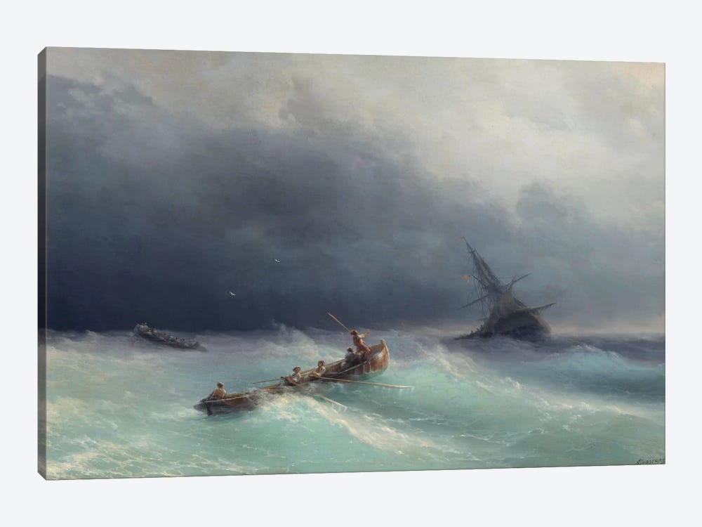 Storm at Sea by Ivan Aivazovsky 1-piece Canvas Print