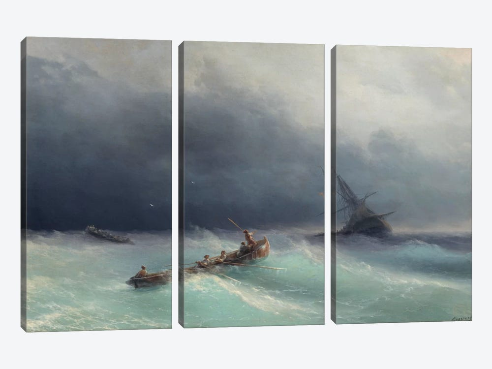 Storm at Sea by Ivan Aivazovsky 3-piece Art Print
