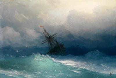 Image result for A Ship in a Stormy Sea