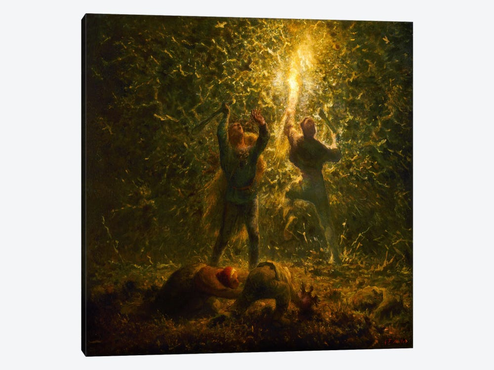 Bird's Nesters by Jean-Francois Millet 1-piece Canvas Print