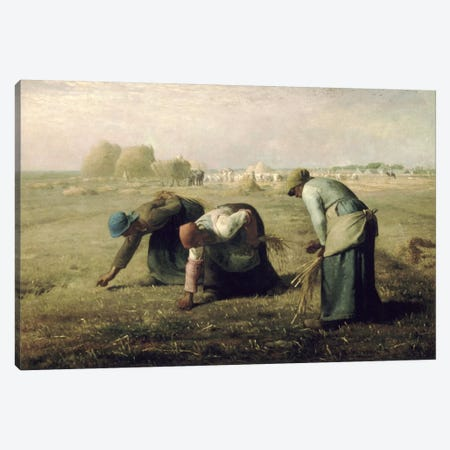 The Gleaners Canvas Print #15099} by Jean-Francois Millet Art Print