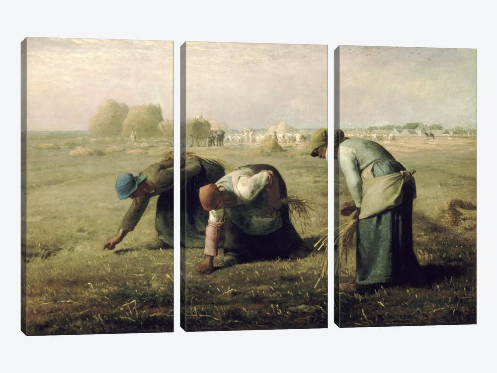 The Gleaners by Jean-Francois Millet 3-piece Canvas Wall Art