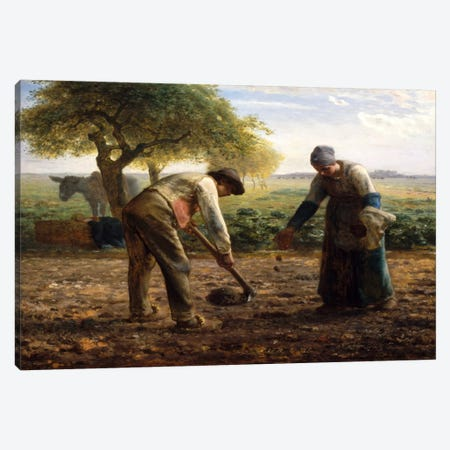 Potato Planters Canvas Print #15100} by Jean-Francois Millet Art Print