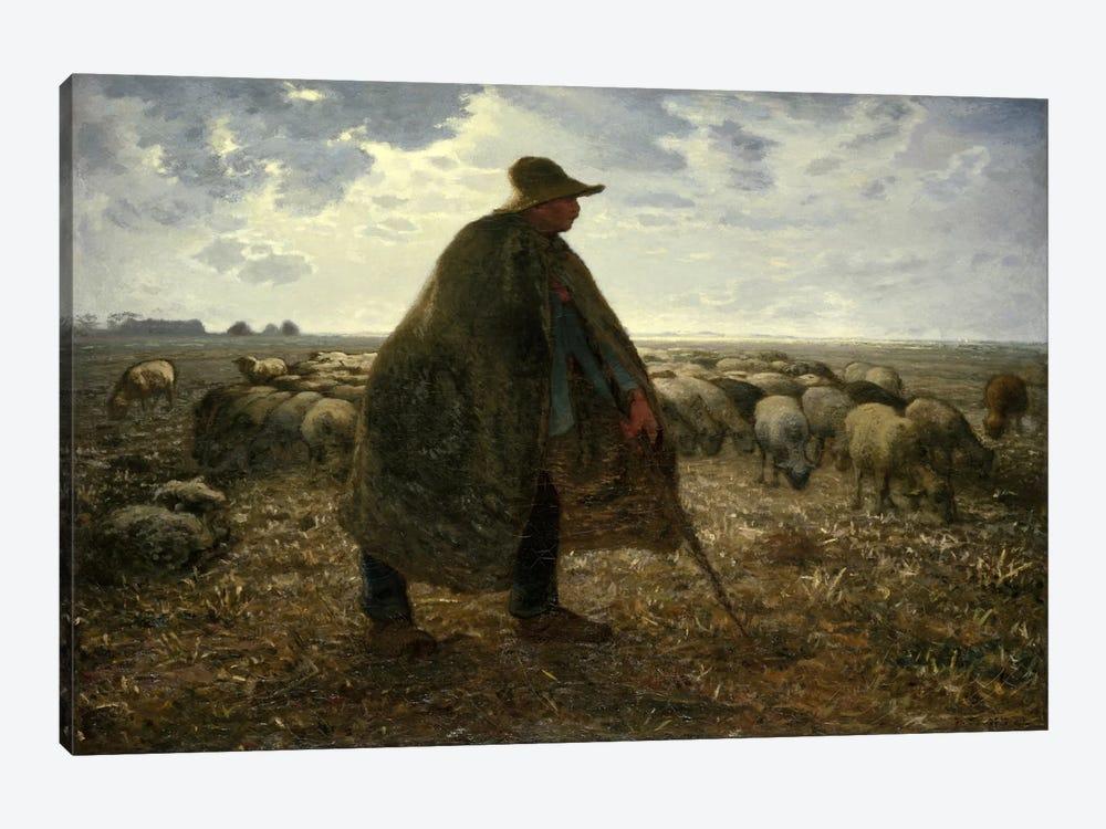 Shepard Tending His Flock by Jean-Francois Millet 1-piece Canvas Art