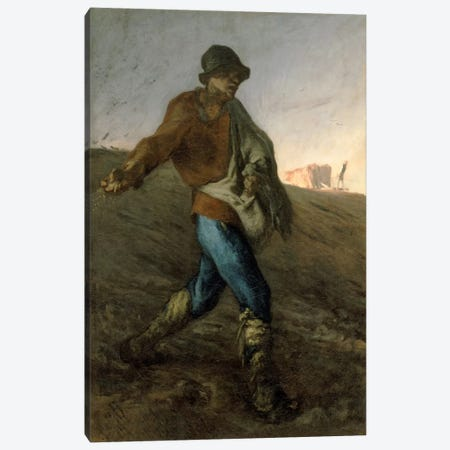 The Sower Canvas Print #15102} by Jean-Francois Millet Canvas Print