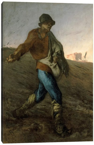 The Sower, 1850 (Museum Of Fine Arts, Boston) Canvas Art Print