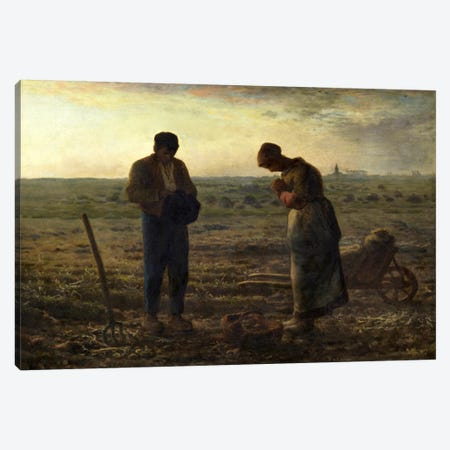 The Angelus Canvas Print #15103} by Jean-Francois Millet Art Print