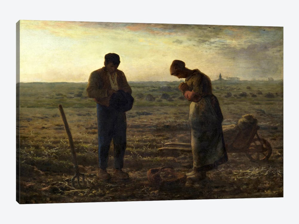 The Angelus by Jean-Francois Millet 1-piece Canvas Wall Art
