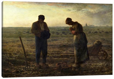 The Angelus Canvas Art Print