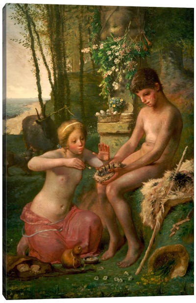 Spring (Daphnis and Chloe) Canvas Print #15106
