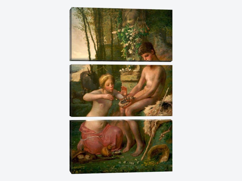 Spring (Daphnis and Chloe) by Jean-Francois Millet 3-piece Canvas Art Print