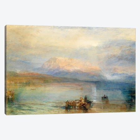 The Red Rigi Canvas Print #15107} by J.M.W Turner Canvas Artwork