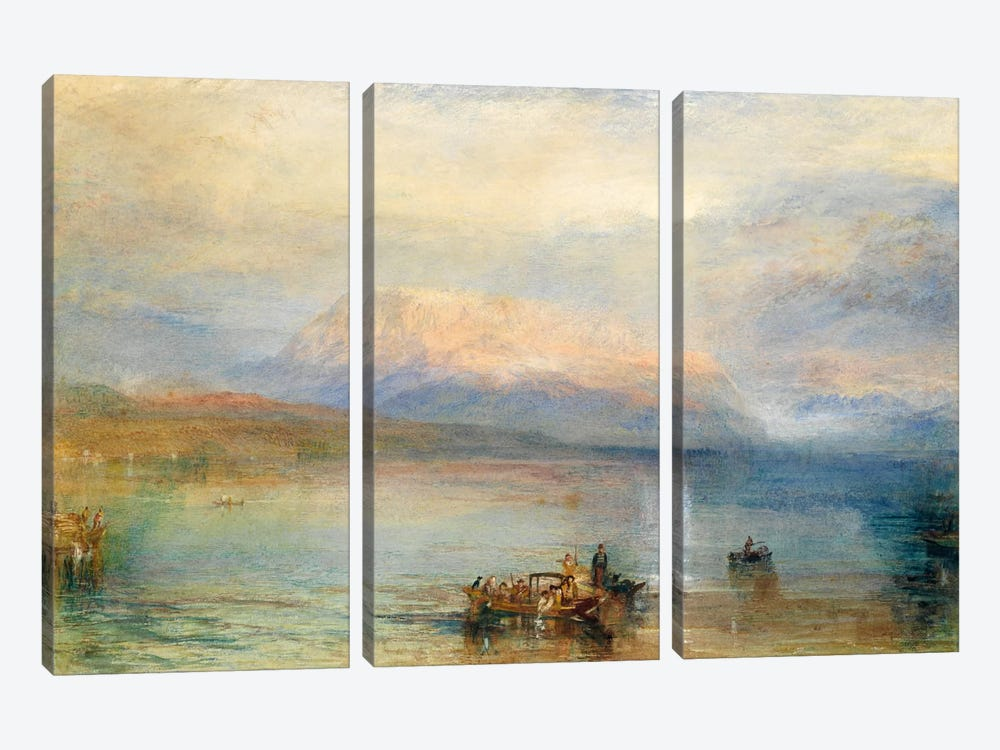 The Red Rigi by J.M.W. Turner 3-piece Canvas Wall Art