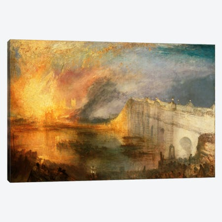 Burning of the Houses of Parliament Canvas Print #15108} by J.M.W. Turner Art Print
