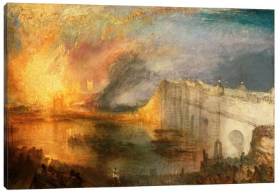 Burning of the Houses of Parliament Canvas Art Print