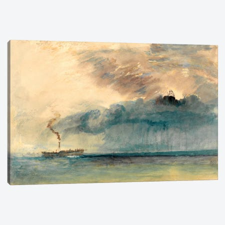 A Paddle Steamer in a Storm Canvas Print #15112} by J.M.W Turner Canvas Wall Art