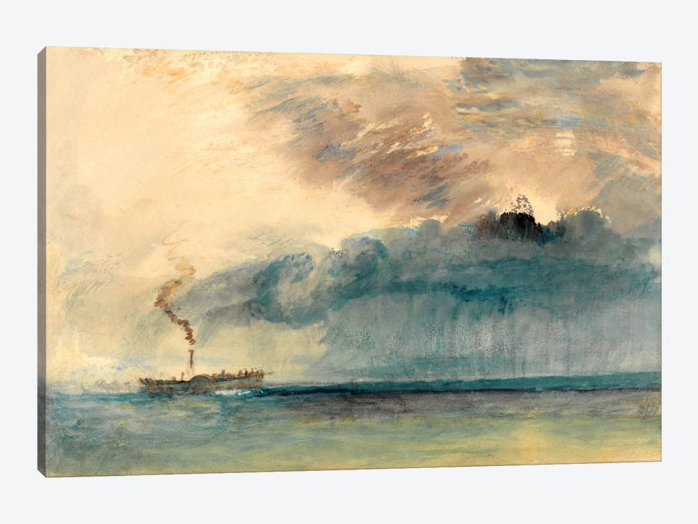 A Paddle Steamer in a Storm by J.M.W. Turner 1-piece Canvas Artwork