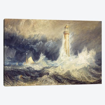 The Bell Rock Lighthouse Canvas Print #15114} by J.M.W Turner Canvas Print