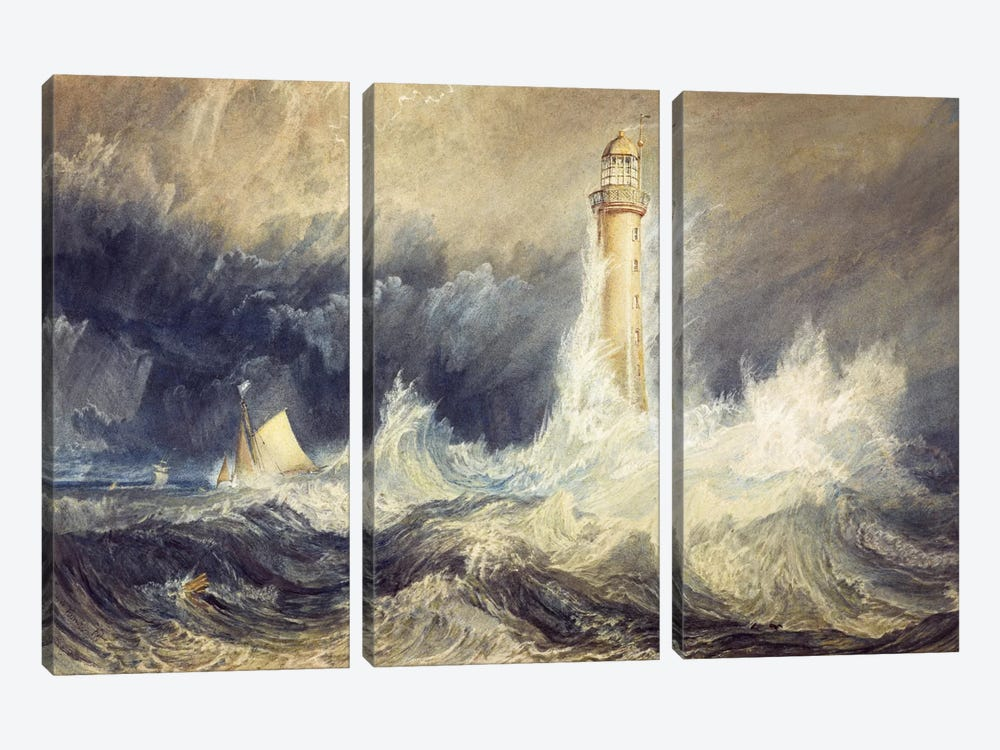 The Bell Rock Lighthouse by J.M.W. Turner 3-piece Canvas Artwork