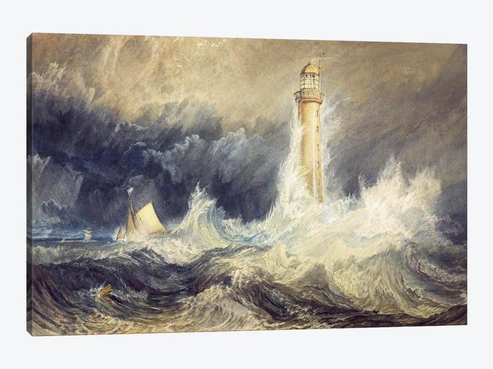 The Bell Rock Lighthouse by J.M.W. Turner 1-piece Canvas Artwork