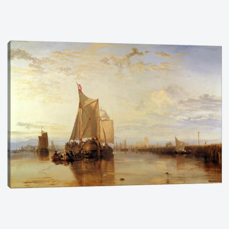 Dort or Dordrecht: The Dort Packet-Boat from Rotterdam Becalmed Canvas Print #15116} by J.M.W Turner Canvas Art Print
