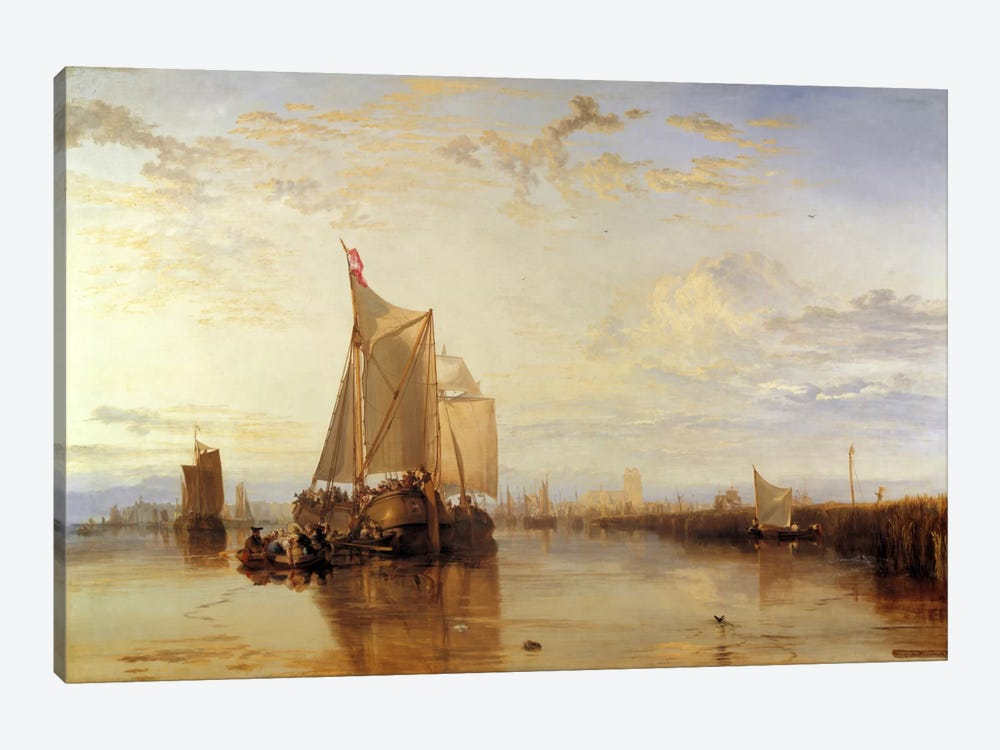 Dort or Dordrecht: The Dort Packet-Boat from Rotterdam Becalmed by J.M.W Turner 1-piece Canvas Wall Art