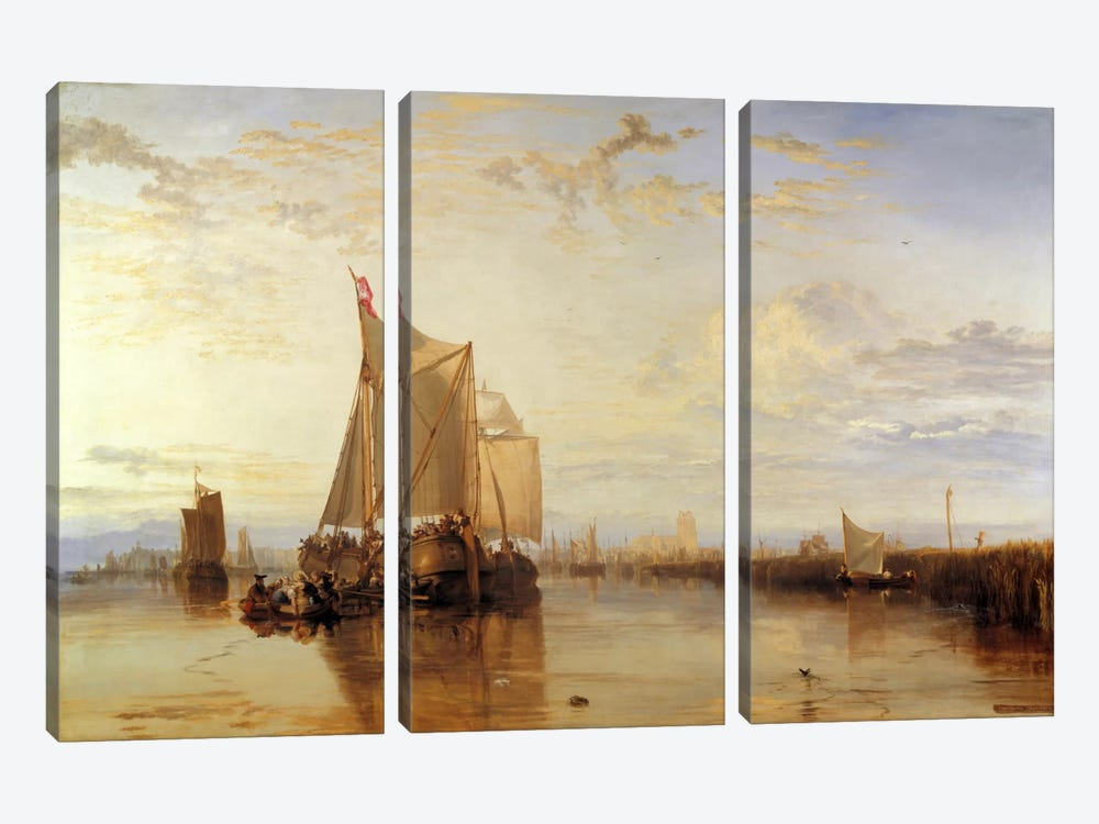 Dort or Dordrecht: The Dort Packet-Boat from Rotterdam Becalmed by J.M.W Turner 3-piece Canvas Wall Art